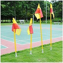 Football corner flagpole Detachable Soccer Corner Pole & Flag Post Set ABS Base 1.5m 3pcs pole+floor base+flag