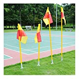 Football Corner Flagpole staccabile calcio Corner Pole bandiera & Post set ABS base 1.5 m 3pcs Pole + Floor base + bandiera