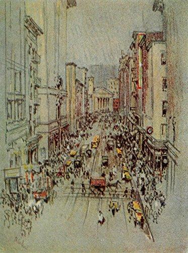 Joseph Pennell - The New New York 1909 Bleecker Street Kunstdruck (60,96 x 91,44 cm)