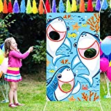 Blulu Bean Bag Toss Games with 3 Bean Bags Party Games Pack and Decoration for Baby Children Family Theme Party Favor Supplies