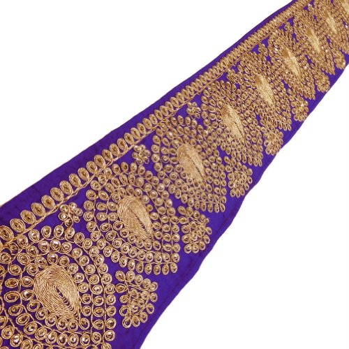braided-fabric-trim-ethnic-blue-leaf-design-tape-royal-apparel-lace-india-by-the-yard