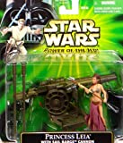 Princess Leia with Sail Barge Cannon - Star Wars Power of the Jedi Collection von Hasbro