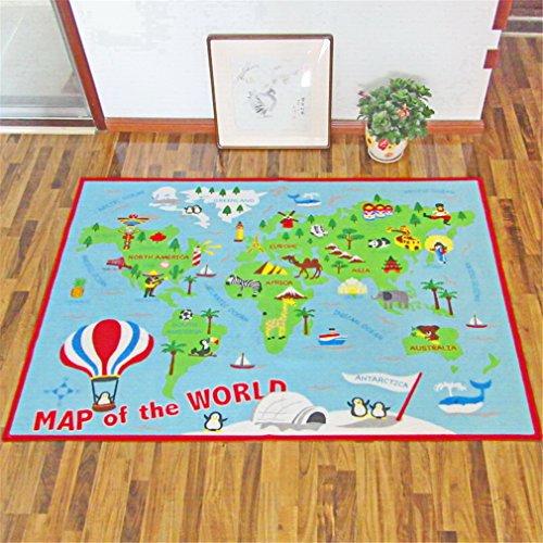HD-Dreamer Teppich Kinder Baby Matten Spielteppich Fußmatten Baby Spielmatte Krabbeldecke Anti-Rutsch Verdicken Matten Bodentür/Vorleger/Wohnzimmer/Gästezimmer Nylon 100 * 150Cm