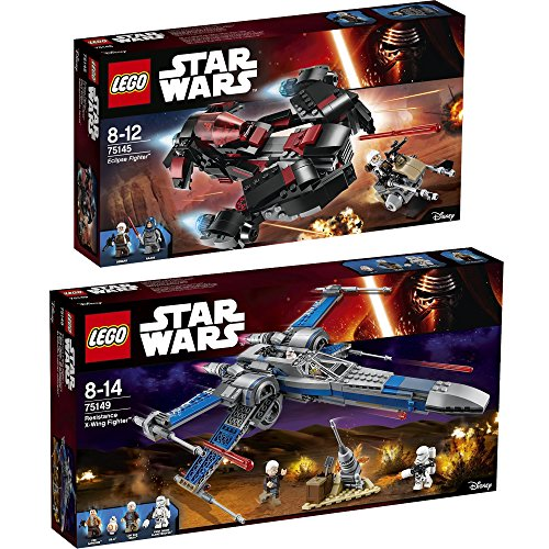 Preisvergleich Produktbild Lego Star Wars 2er Set 75145 75149 Eclipse Fighter + Resistance X-Wing Fighter - sofort lieferbar!