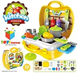 Toys Bhoomi Ultimate Kid Chef's Bring Along Kitchen Cooking Suitcase Set - 26 Pieces