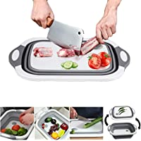 Barabum  tagliere multiuso pieghevole per verdure e verdure  3 in 1  tagliere portatile da cucina  tagliere per tagliare frutta e verdura all  39 aperto  viaggi  campeggio N 5923 C
