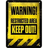 Cartel de chapa 15x20 -Restricted Area - Keep Out!
