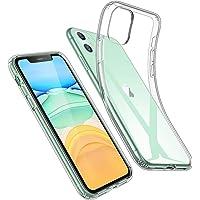 ESR Coque pour iPhone 11, Bumper Housse Etui de Protection Transparent en Silicone TPU Souple [Ultra Fin] [Ultra Léger] pour iPhone 11 (2019) 6,1 Pouces (Série Jelly, Transparent)