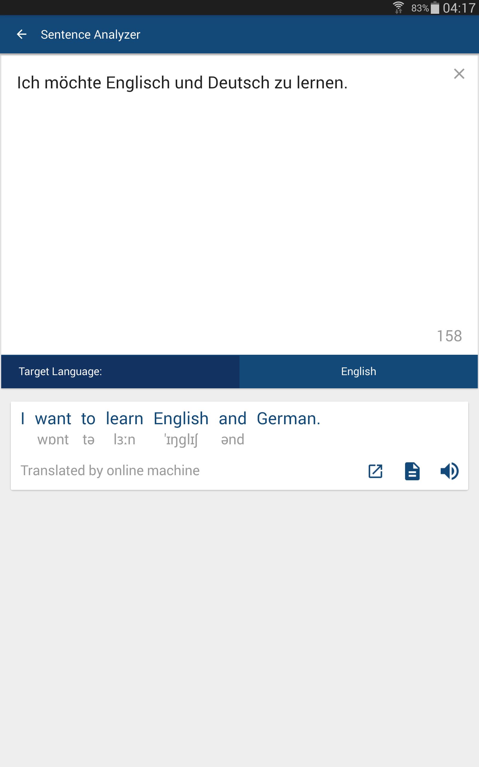 Englisch Deutsch Wörterbuch / Übersetzer - 5