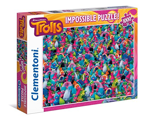 Clementoni - Puzzle, imposible trolls, 1000 piezas