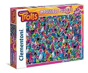 Clementoni - Puzzle, Imposible Trolls, 1000 Piezas  (39369.5)