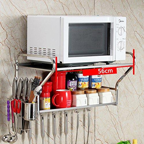 Multi-Funktion Küchen Wandhalterung Aufbewahrungs Regal Halter Ablage Wandhaken
