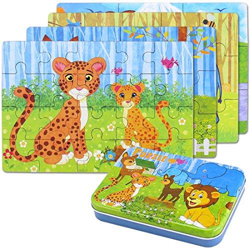 BBLIKE Jigsaw Puzzle in Legno Giocattolo in Una Scatola per i Bambini,...