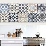 Elobaby Selbstklebende Wasserdichte Tapete WC Fliesen Wand Mosaik aufkleber Wandtapete , 1