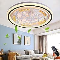 Ventilateur De Plafond Silencieux Avec éclairage 72W LED Plafonnier Ventilateur Avec Télécommande Dimmable Fan Lustre…