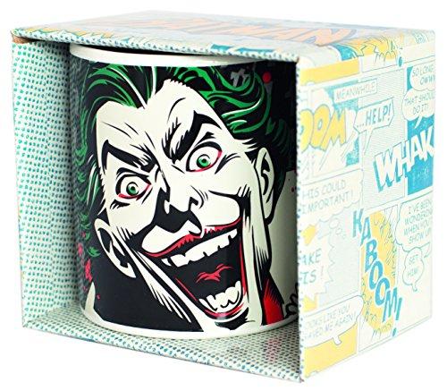 Batman MUGBBM31 Kaffeetasse Joker, Keramik, weiß, 12 x 10 x 9 cm