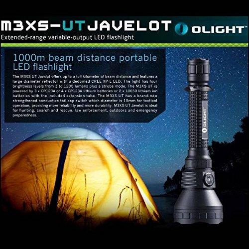 PhilMat OLIGHT m3xs-ut javelot Cree XP-l 4modes 1200lm LED 1000m linterna