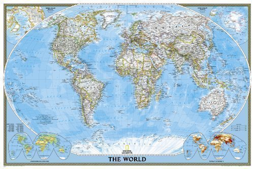 World Classic, poster size, tubed Wall Maps World by National Geographic Maps published by National Geographic Maps Division (2012)