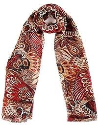Echarpe foulard étole en mousseline - Paon - Très agréable à porter et très douce - Plusieurs couleurs