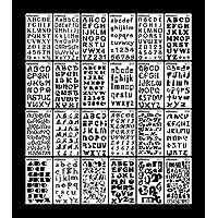 Lote de 24 plantillas para números de letras alfabeto para manualidades, manualidades, recortes, pintura, dibujo, manualidades, 10 x 18 cm