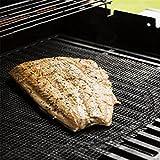 BeautyTop 1PC BBQ Grill Mat Mat Matte Nonstick Pad Fiberglas Grill Pad Grill Folie Werkzeug (40 x 40cm)