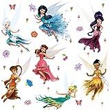 ufengke Stickers Muraux Fée Autocollants Mural Fleurs Papillons Amovibles pour Chambre Enfants Filles Salon Décoration Murale
