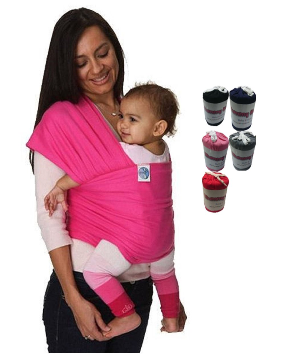 Mummy Hug New Baby Sling Adjustable Wrap Carrier Pouch Infant Birth Breastfeeding (Pink)  TechnoTec