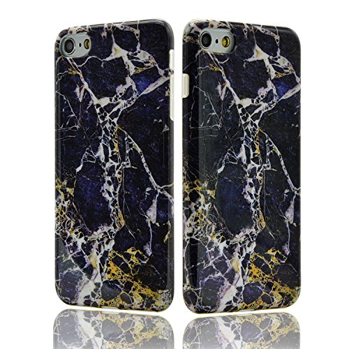 iPhone 8 Hülle, iPhone 8 Marmor Handyhülle, iPhone 8 Marble Hülle, Sunroyal Marmor Serie Flexible TPU Silikon Schutz Handy Hülle Handytasche HandyHülle Schale Case Cover Schutzhülle für Apple iPhone 7 Farbe 22