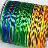 8-fach geflochtene Angelschnur 300 m Multi-color. Japan PE braided line in...