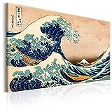murando Impression sur Toile intissee 90x60 cm 1 Piece Image sur Toile Images Tableau Motif Moderne Decoration tendu sur Chassis Vintage Katsushika Hokusai p-B-0009-b-a 90x60 cm