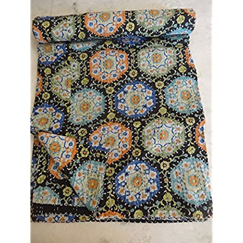 Tribal Asian Textiles-Piumone, Kantha Suzani Kantha competizione, Bohemian Bedding-Coperta/Copriletto Kantha,