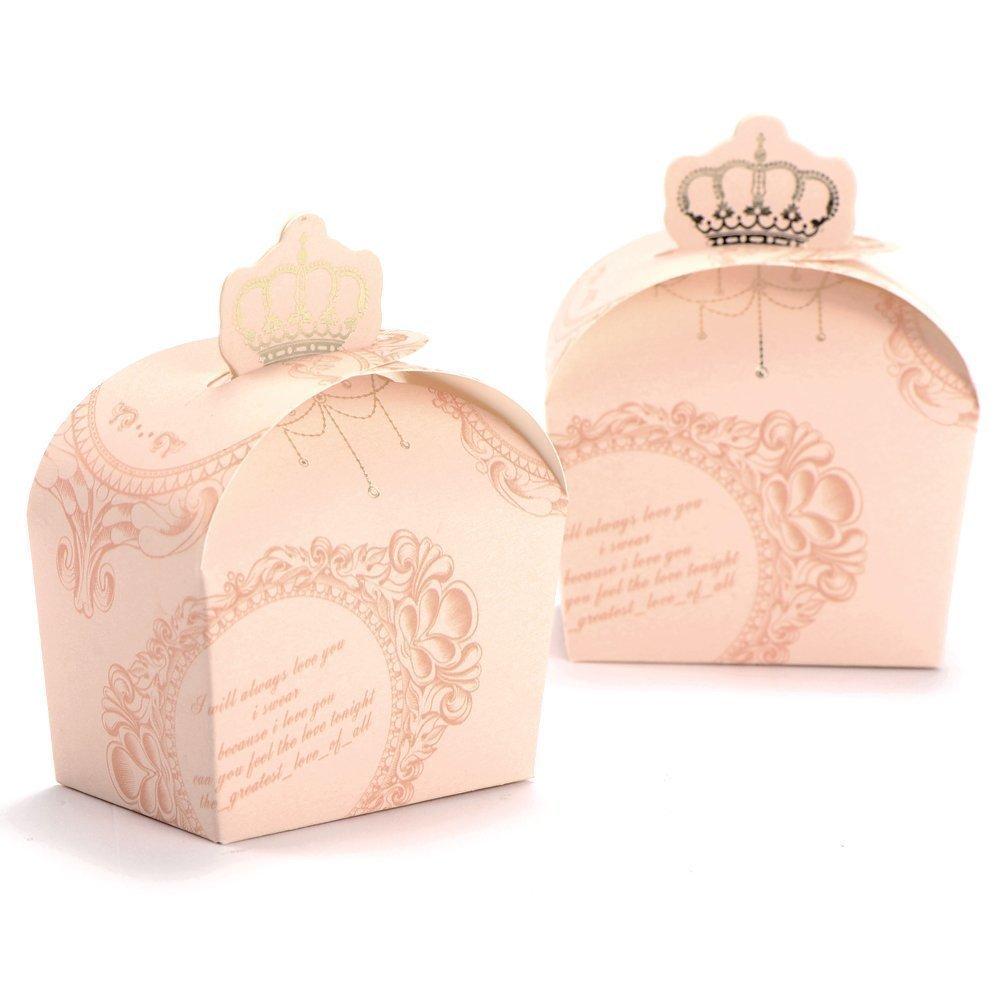 YEAH6788650PCS creativo dolce bomboniere scatole di caramelle scatole regalo (rosa)