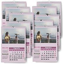Fotocenter Calendarios Personalizados de Pared Espiral 21 x 30 cm DE 14 páginas - Imprime tu Pack DE 10 calendarios idénticos.
