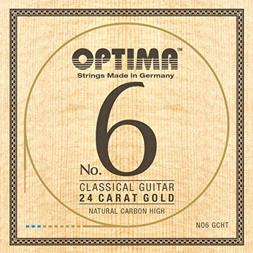 Optima No.6 Classical 24K GOLD Strings, Carbon Set - High Tension