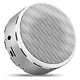 Mr. Fragile Bluetooth Lautsprecher Tragbare Karte Mini Subwoofer Wireless A8 Lautsprecher,Silver