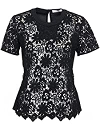 Dorothee Schumacher Mujer with Conviction T de blous Sleeve 1/2 Pure Black