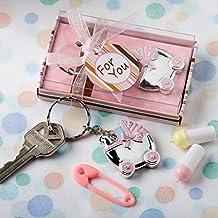 Rosa llaveros diseño cochecito de bebé