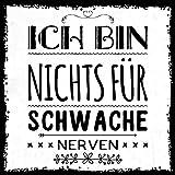 how about tee? - schwache Nerven - stylischer Kühlschrank Magnet mit lustigem Spruch-Motiv - zur Dekoration oder als Geschenk