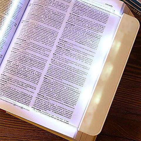 NASEN Piatto LED lettura notte di luce (pellicola) lettura lampada