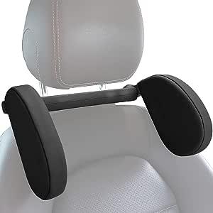 Lidiwee Autositz Kissen Kopfstütze Nackenstütze Reise Schlafkissen Auto Seite Hohe Elastische Speicher Baumwolle Kopfkissen Für Kinder Erwachsene Schwarz Auto