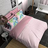 Boutique Living India Percale Geometric Printed Bedsheet Set With 2 Pillow Covers -King Size, Pink
