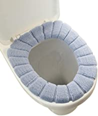 SYGA Toilet Seat Cover of Soft Thicker Warmer Cloth Stretchable Cover(Grey)