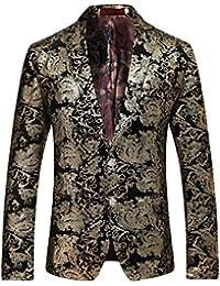 Cloud Style Taglio Slim Fit Giacca da Uomo Matrimonio Smoking Golden 4ff6ee5f2a1