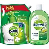 Dettol Liquid Hand wash Refill Original -1500 ml & Dettol Disinfectant Cleaner for Home, Lime Fresh – 1L