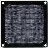 Schutzgitter für Lüfter mit Filtereinsatz 140 mm, Aluminium, schwarz