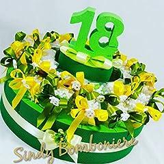 Idea Regalo - Torta BOMBONIERE 18 Anni Porta Confetti scatoline con gessetto diciottesimo (Torta da 32 plexiglass)
