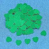 30 g 10 mm / 15 mm Herz glitzernde Konfetti Tischdeko Hochzeit Babyparty Dekoration Sammelsound 10 mm grün