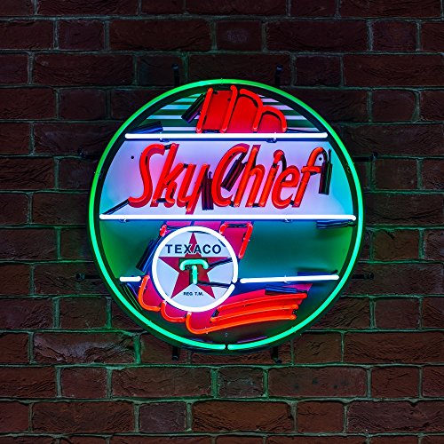 new-real-neon-light-not-led-icon-neon-neonetics-aviation-pilots-texaco-sky-chief-green-white-and-red