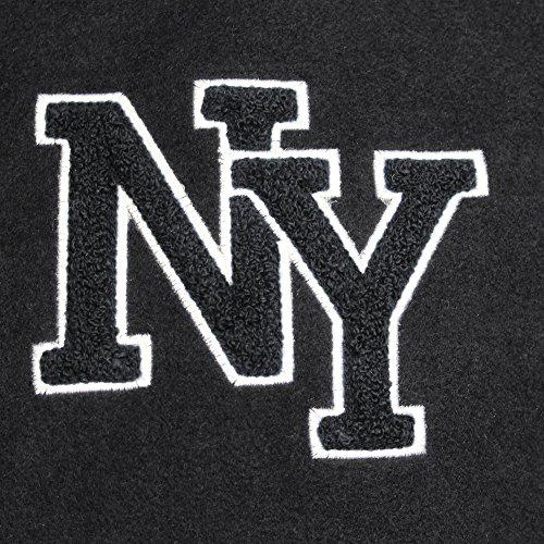 NY Baseball Jacke m. Patch schwarz/weiß Schwarz