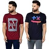 Tfortees Men's Slim Fit T-Shirt (Pack of 2)